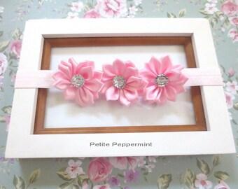 Pink Baby Headband, Baby Flower headband, Newborn Headband Toddler Headband, Pink Baby Headband Bow,Pink Baby Girl Headband,Pink Baby Bow
