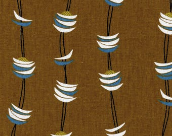 Pasta in C-Earth (Cotton Linen Canvas Fabric) by Fabrika Uka from the Tayutou collection for Kokka #kokjg-50900901-C by 1/2 yard