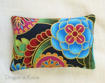 Jeweltone Pocket Tissue Holder - travel cover for To Go Facial Tissue Packets, floral cotton accessory, tissues for purse