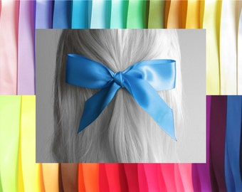 "HAIR RIBBON-1.5"" Wide Satin Hair Ribbons (25"" Long)-Hair Ties, Hair Bows, Women's Hair, Girl's Hair Ribbons, Wedding Hair, Bad Hair Days"