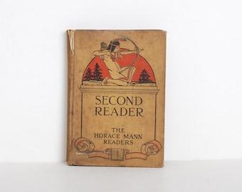 Vintage 1900s Childrens Second Reader Book