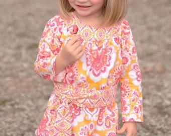 INSTANT DOWNLOAD- Allie Dress  (sizes 12/18 months to 7) PDF Sewing Pattern and Tutorial