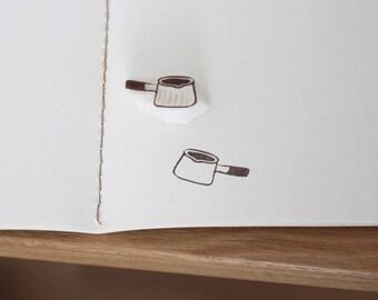 Leche pan handcarved sello de goma sin montar. Sello hecho a mano. Lindo sello para papel de regalo, scrapbooking.
