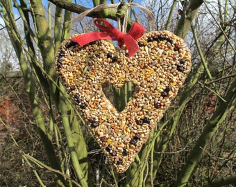 Handmade Birdseed Heart-Ideal Gift for Nature Lovers