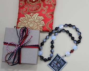 Protestant Prayer Beads: With Resurrection Bead - For I Know The Plans