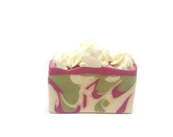 Goat Milk Soap - Shea Butter Soap - Sweet Pea Soap - Handcrafted Soap - Homemade Soap - Moisturizing Soap - Valentine's Day - Hi Top Soap