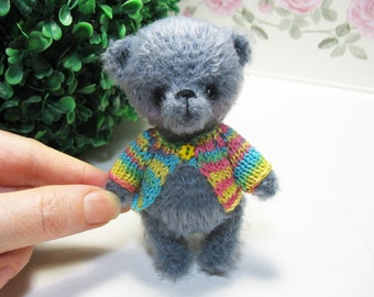 Crochet mini bear Vovochka, toy handmade, crochet teddy bear, crocheted toys