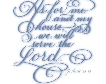 Joshua 24:15 - Printable Download
