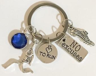 Running Shoe Keychain, Birthstone, Love to Run, Running Keychain, Running Gifts, Gifts for Her, Personalized Gifts, Gift Ideas, Runner, Gift