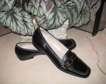 1990's Cherokee Black Leather Shoes