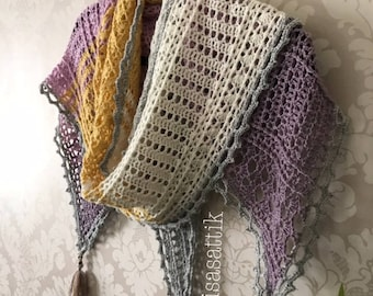 PDF Crochet Shawl Pattern - Wisteria Way