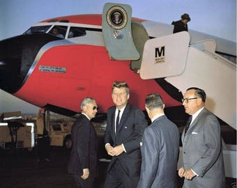 John F. Kennedy and California Governor Pat Brown (right) 1961