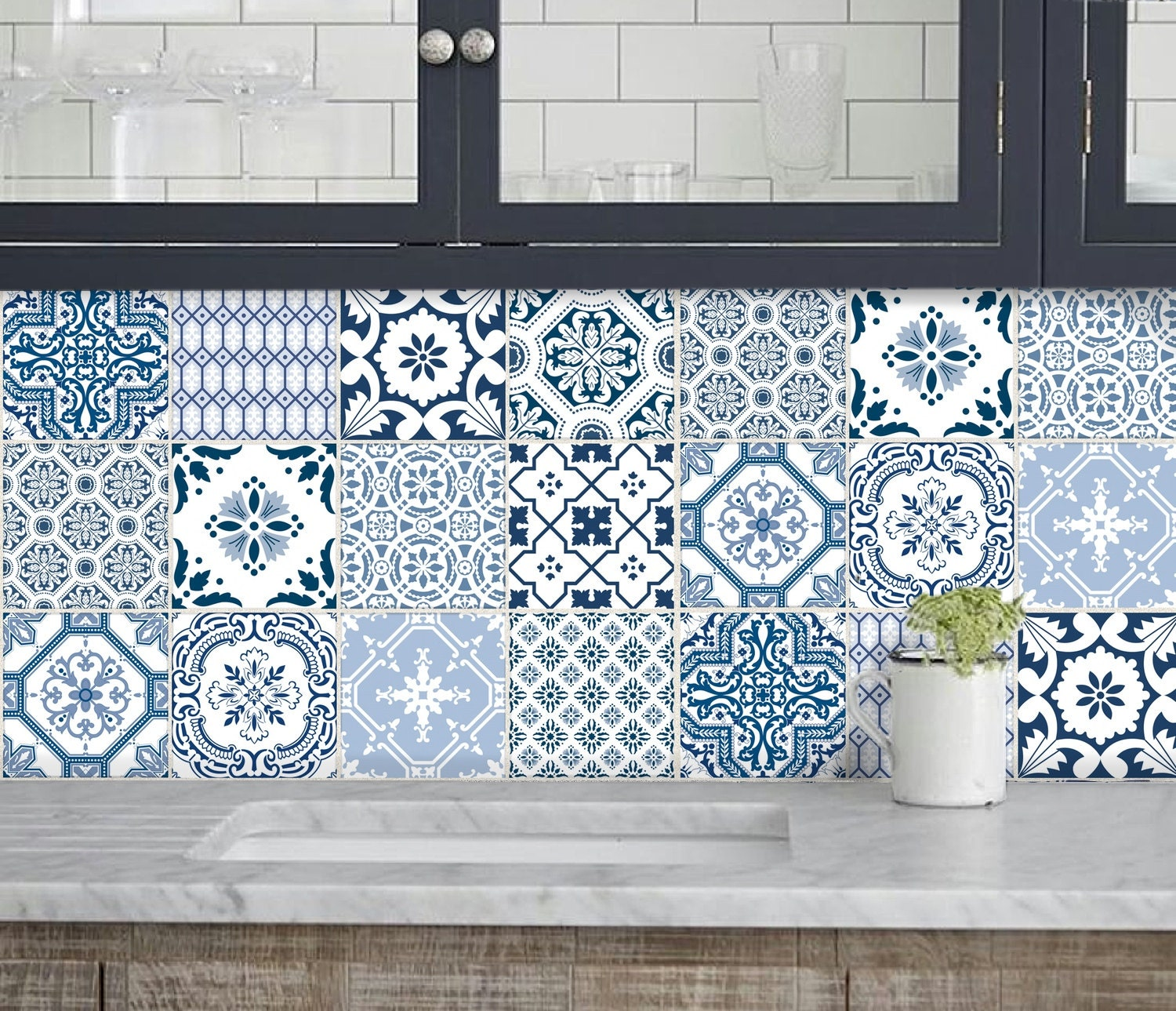 kitchen bathroom tile decals vinyl sticker portugal. Black Bedroom Furniture Sets. Home Design Ideas