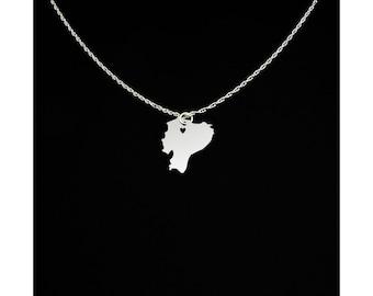 Ecuador Necklace - Country Necklace - Country Charm - Ecuador Gift - Ecuador Jewelry