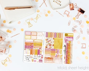 Sweet October TN POCKET Weekly Kit // 100+ Matte Planner Stickers // Perfect for your Pocket/Personal Traveler's Notebook // TNP0790