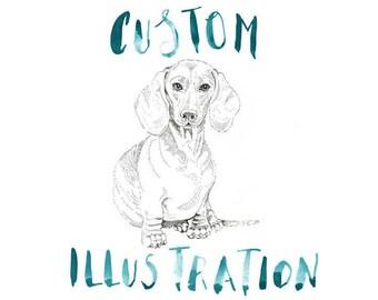 Custom Pet Illustration, A5
