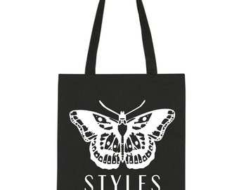 "Harry Styles ""Butterfly Tattoo"" Cotton Tote Bag"