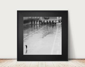 Venice photograph black and white photography Venice print Venice decor St Marks Square photograph umbrella photograph rain photograph