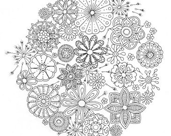 Colouring Sheet - Dandelion Mandala