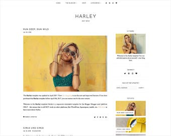 Harley | Responsive Blogger Template + Free Installation