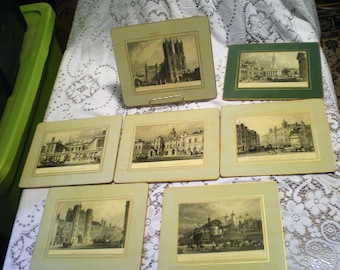 Vintage English Scene Small Placemats**Early 1900 Scenes**