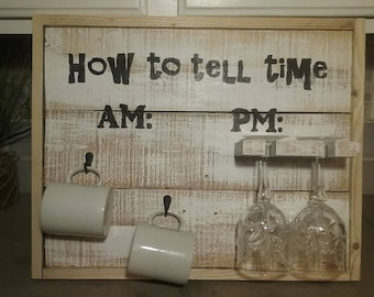 How to tell time AM PM sign.