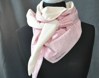 Girly pink and white scarf off