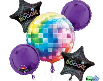 70's Disco Fever -Let's Boogie - Any Occiaion Bouquet Of Balloons