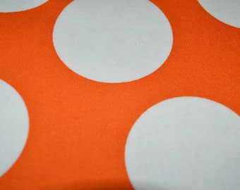 "43"" x 43"" Orange Polka Dot Overlay"