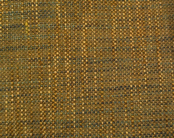 Gold - Blue - Woven - Upholstery Fabric by the Yard