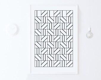 Geometric Print, Geometric Poster, Minimalist Wall Print, Pattern Print, Minimalist Wall Art Print, Printable Art DIGITAL DOWNLOAD Art 24x36