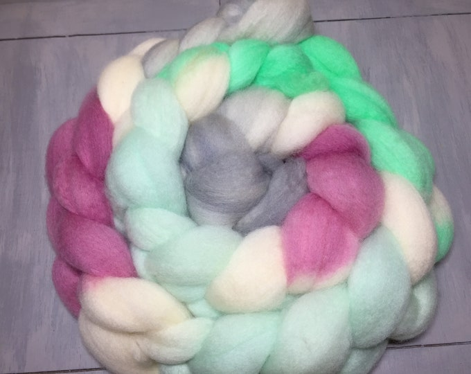 Sweet Dreams Hand Dyed Blue Faced Leicester Roving - Butter Soft!