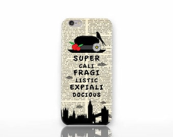 Mary Poppins iPhone X case-Mary Poppins iPhone 8/8 Plus-Poppins iPhone 7/7 Plus-iPhone 6/6 Plus-iPhone 5/5S case-Galaxy-Huawei case-NP3D205