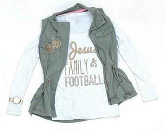 Jesus Family & Football > Christian shirt > Football > Jesus > Family > Wonderfully > Made > Apparel