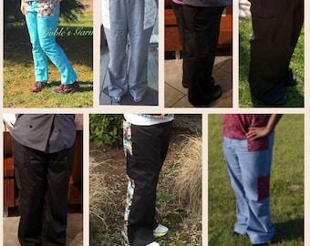 Scrub Pants PDF Sewing Pattern, medical scrubs, dental scrubs, vetrinary scrubs, pockets, sewing patterns