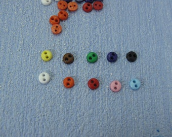 Gaël  dollhouse Miniature 10 buttons of 4mm for Blythe Barbie Dal Pullip Lati or playscale Dollhouse Miniature Home Decor Accessory.