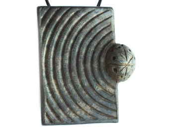 Ceramic Geometric Pendant Necklace