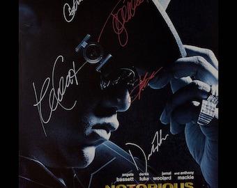 Notorious Signed Poster - Custom Framed