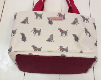 Bad black dog handmade bag