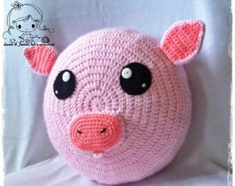 Piggy Pillow - PDF Crochet Pattern - Instant Download