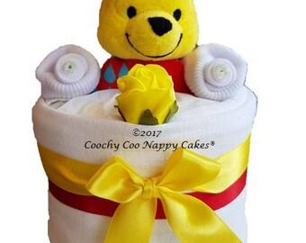 Mini Winnie the Pooh Baby Nappy Cake Gift