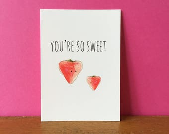 Strawberry So Sweet A6 card