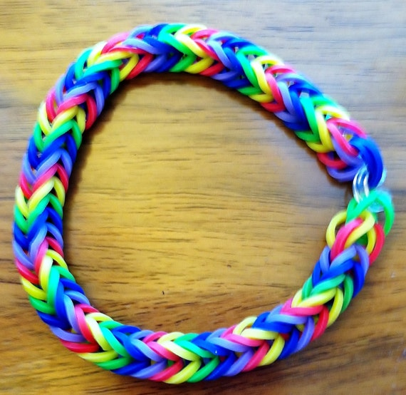 Hot Item Fishtail Rainbow Loom Rainbow Colored Bracelet