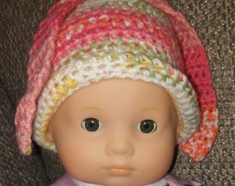 Painted Bunny Hat for 15 inch Bitty Baby Dolls