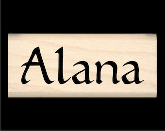 Alana - Name Rubber Stamp for Kids
