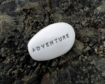 ADVENTURE - Ceramic Message Pebble