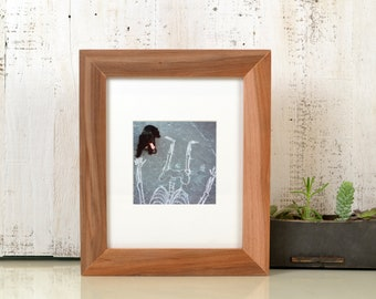 "8x10 Picture Frame in 1.5"" wide Style Solid Natural WILLOW Wood - IN STOCK - Same Day Shipping - 8 x 10"" Photo Frame"