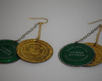Sierra Nevada Pale Ale - BOTTLE CAP Earrings
