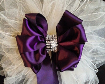 Wedding Pew Bows White Or Any Color You Choose Tule Bows