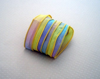 Ribbon color No. 404 hand dyed silk